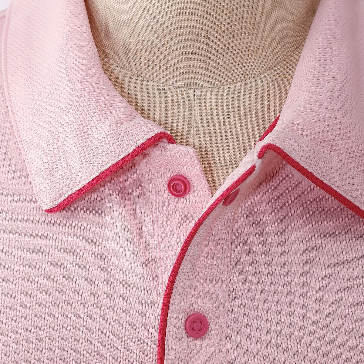 サイドポケット配色パイピングポロシャツ