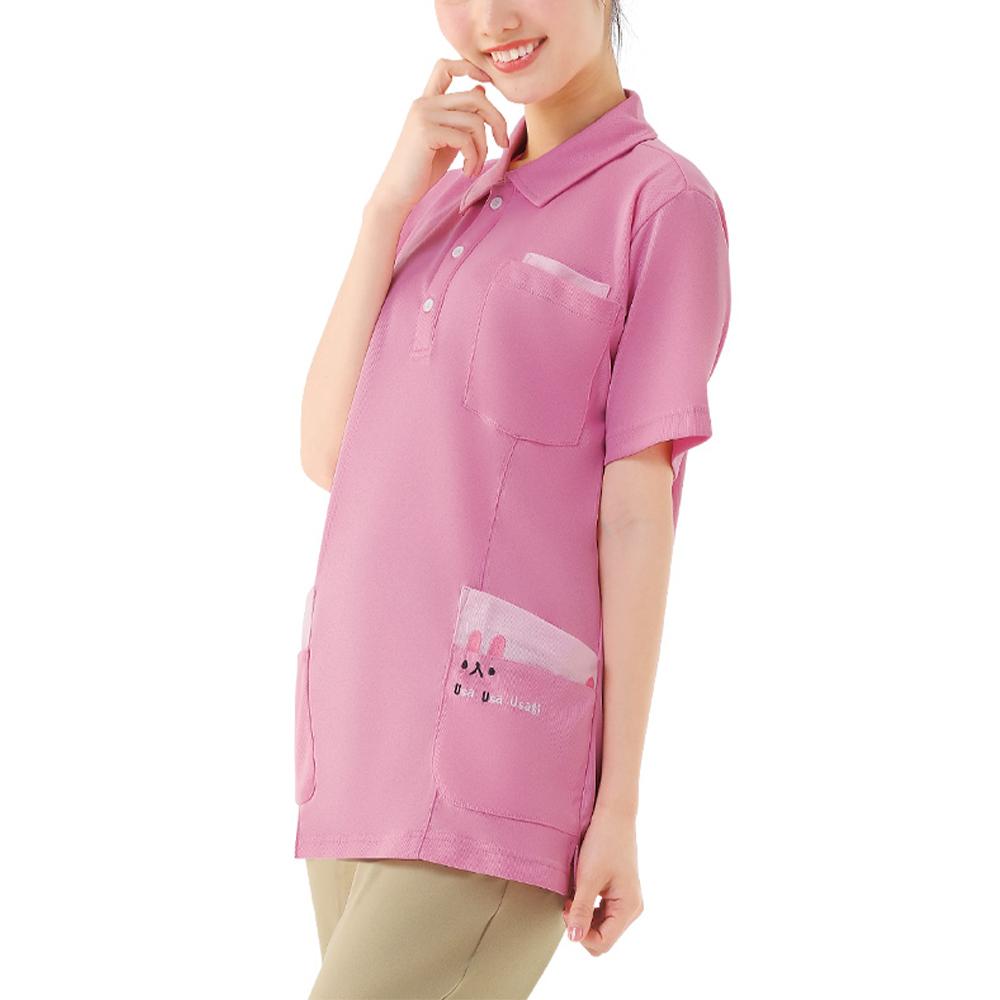 カラフルアニマルサイドポケットポロシャツ